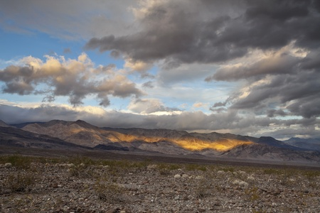 Mountains Sunrise. Image of dramatic sky and mountain range in Death Valley National Park, California. Stock Photo - 16529067