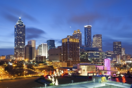 City of Atlanta. Bild des Atlanta Skyline bei Sonnenaufgang.