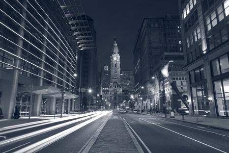 Philadelphia. Toned image of Philadelphia at night. photo
