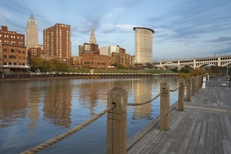 Cleveland. Image of Cleveland downtown during late afternoon. photo