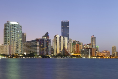 Miami. Image of Miami downtown skyline during sunrise. photo