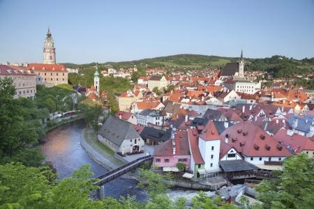 Cesky Kromlov, Czech Republic. Image of Cesky Krumov and Krumlov Castle. photo