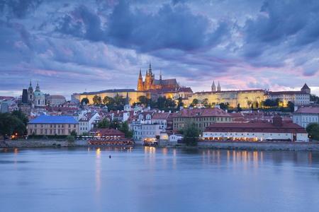 Prague  Image of Prague, capital city of Czech Republic, during beautiful sunset