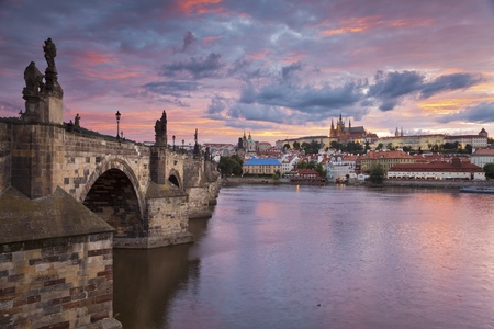 Prague  Image of Prague, capital city of Czech Republic, during beautiful sunset Stock Photo - 117370635