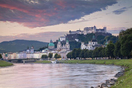 Salzburg, Austria  Image of Salzburg in the early morning Stock Photo - 117370637
