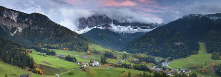 dolomites: Italian Alps  Beautiful St  Magdalena village in a gorgeous valley located in Italian Alps