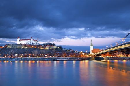 historical reflections: Bratislava, Slovakia  Image of Bratislava, the capital city of Slovakia
