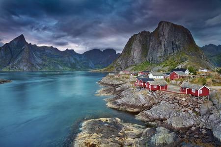 Norway  Image of Lofoten Islands, Norway during beautiful sunset
