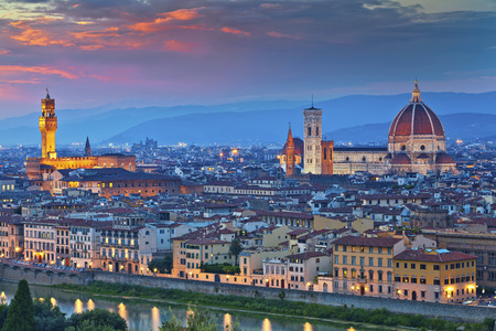 Florence. Image of Florence, Italy during beautiful sunset. Stock Photo - 35089681