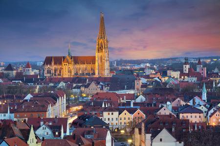 regensburg: Regensburg. Image of unesco heritage and historic bavarian city Regensburg.