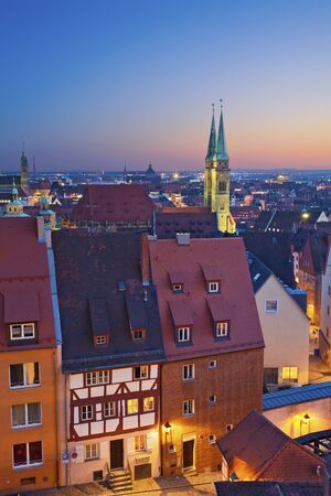neo classical: Nuremberg. Image of historic downtown of Nuremberg, Germany at sunset.