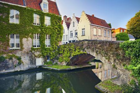 bruges: Bruges. Image of Bruges Belgium during summer sunset.