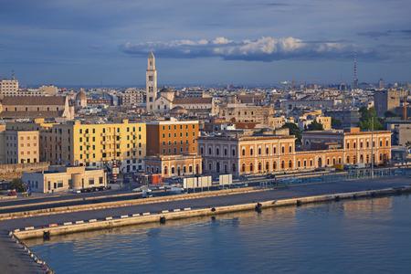 bari: Port of Bari. Image of Bari located in southern Italy. Stock Photo