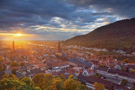 Heidelberg. Image of german city of Heidelberg during sunset. Banco de Imagens - 46176952