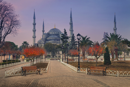 blue mosque: Istanbul. Image of the Blue Mosque in Istanbul, Turkey during sunrise.