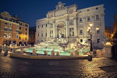 street light: Rome. Image of famous Trevi Fountain in Rome, Italy.