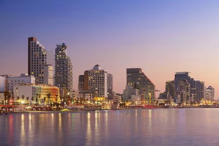 Tel Aviv Skyline. Image of Tel Aviv, Israel during sunset. Stock Photo - 51543500