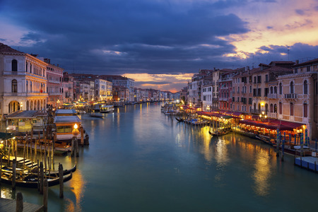 grand canal: Venice. Image of Grand Canal in Venice during sunset.