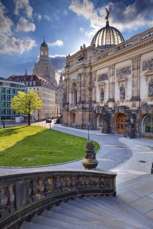 in copula: Dresden. Image of Dresden old town at spring day.