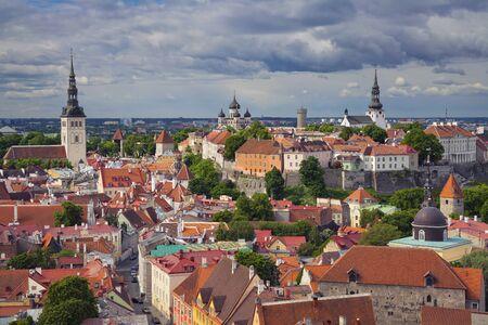 tallinn: Tallinn. Aerial image of Old Town Tallinn in Estonia.