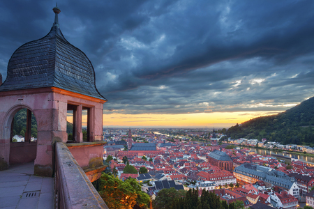 heidelberg: Heidelberg. Image of german city of Heidelberg during sunset.