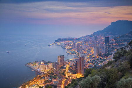 monte carlo: Monaco. Image of Monte Carlo, Monaco during summer sunset.