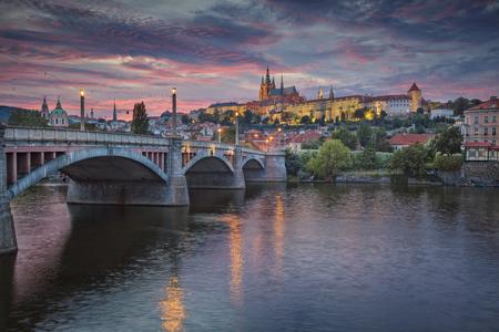 czech republic: Prague at sunset. Image of Prague, capital city of Czech Republic, during dramatic sunset.
