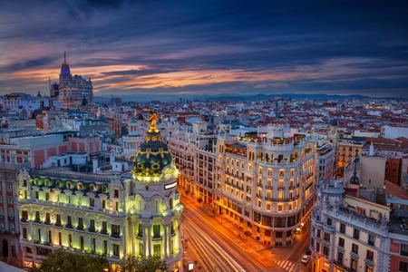 Madrid. Cityscape image of Madrid, Spain during sunset. Stock Photo