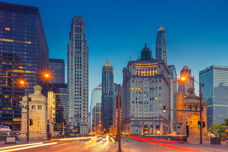 Chicago. Cityscape image of Chicago downtown with Michigan Avenue.