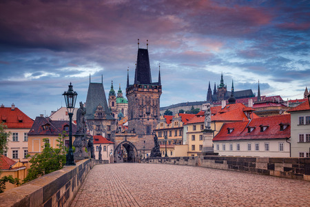 charles bridge: Charles Bridge, Prague. Cityscape image of Charles Bridge in Prague, Czech Republic during sunrise.