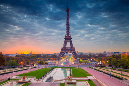 french culture: Paris. Cityscape image of Paris, France with the Eiffel Tower during sunrise. Stock Photo
