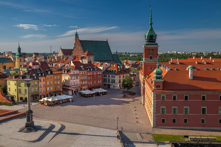 Warsaw. Cityscape image of Old Town Warsaw, Poland during sunny day. Stock Photo