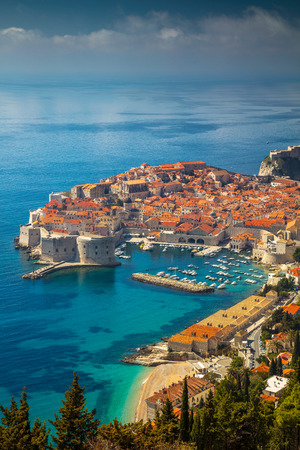 Dubrovnik, Croatia. Beautiful romantic old town of Dubrovnik during sunny day, Croatia,Europe. Banco de Imagens - 75478442
