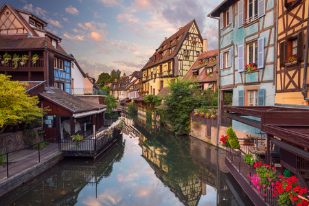 the little venice: City of Colmar. Cityscape image of downtown Colmar, France during sunrise.