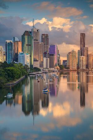 Brisbane. Cityscape image of Brisbane skyline, Australia during sunrise. Stock Photo