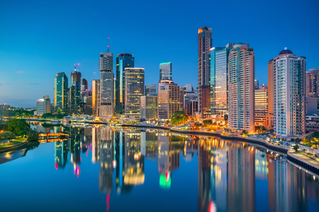 Brisbane. Cityscape image of Brisbane skyline, Australia during sunrise. Banco de Imagens