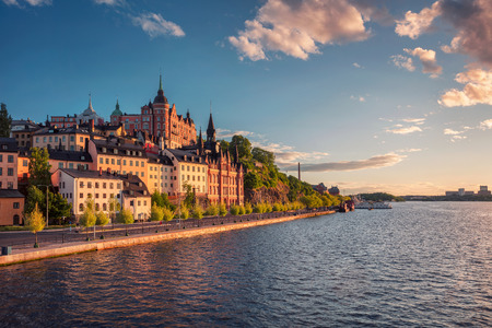 Stockholm. Cityscape image of old town Stockholm, Sweden during sunset. Stock Photo