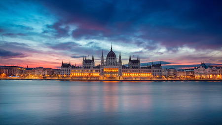 Budapest. Panoramic cityscape image of Budapest, Hungary during beautiful sunrise.