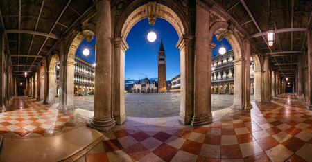 Venice, Italy. Panoramic cityscape image of St. Mark's square in Venice, Italy during sunrise. Stock Photo - 122780466