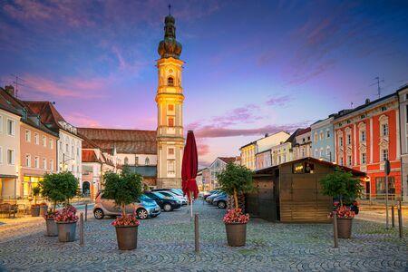 Deggendorf, Germany. Cityscape image of Deggendorf, Germany during sunset.