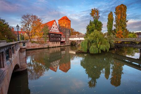 Nuremberg, Germany. Cityscape image of old town Nuremberg, Germany during autumn sunset. Stock Photo - 132412354