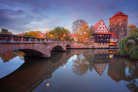 Nuremberg, Germany. Cityscape image of old town Nuremberg, Germany during autumn sunset.
