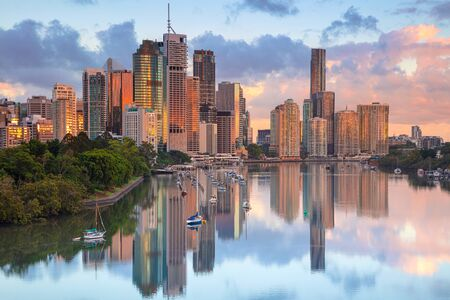 Brisbane. Cityscape image of Brisbane skyline during sunrise in Australia.