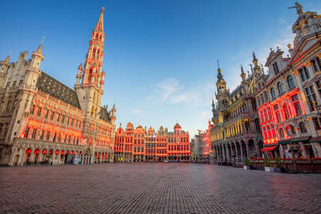 Brussels, Belgium. Cityscape image of Brussels with Grand Place at sunrise.