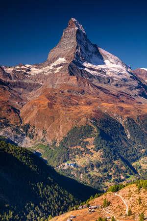 Matterhorn, Swiss Alps. Landscape image of Swiss Alps with the Matterhorn during beautiful autumn sunrise.