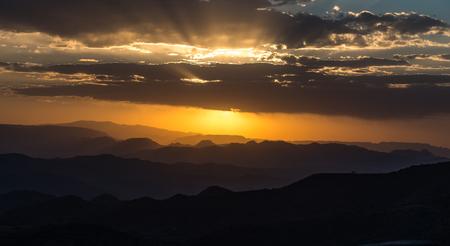 sunset in the highlands of Lalibela, Ethiopia