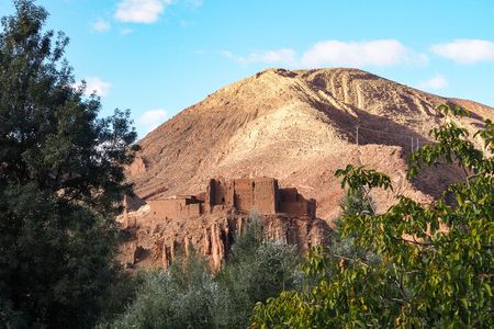 Dades Gorge is a gorge of Dades River in Atlas Mountains in Morocco. Stok Fotoğraf