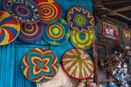 Addis Mercato w Addis Abebie w Etiopii w Afryce. Zdjęcie Seryjne