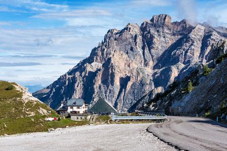 The Dolomites Mountains, Passo Valparola near Cortina d'Ampezzo Italy
