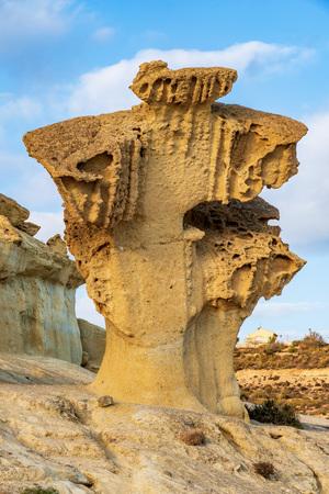 View of the Erosions of Bolnuevo, Las Gredas, Mazarron. Murcia, Spain